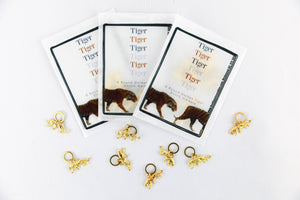 Tiger Tiger Stitch Markers by Firefly Notes