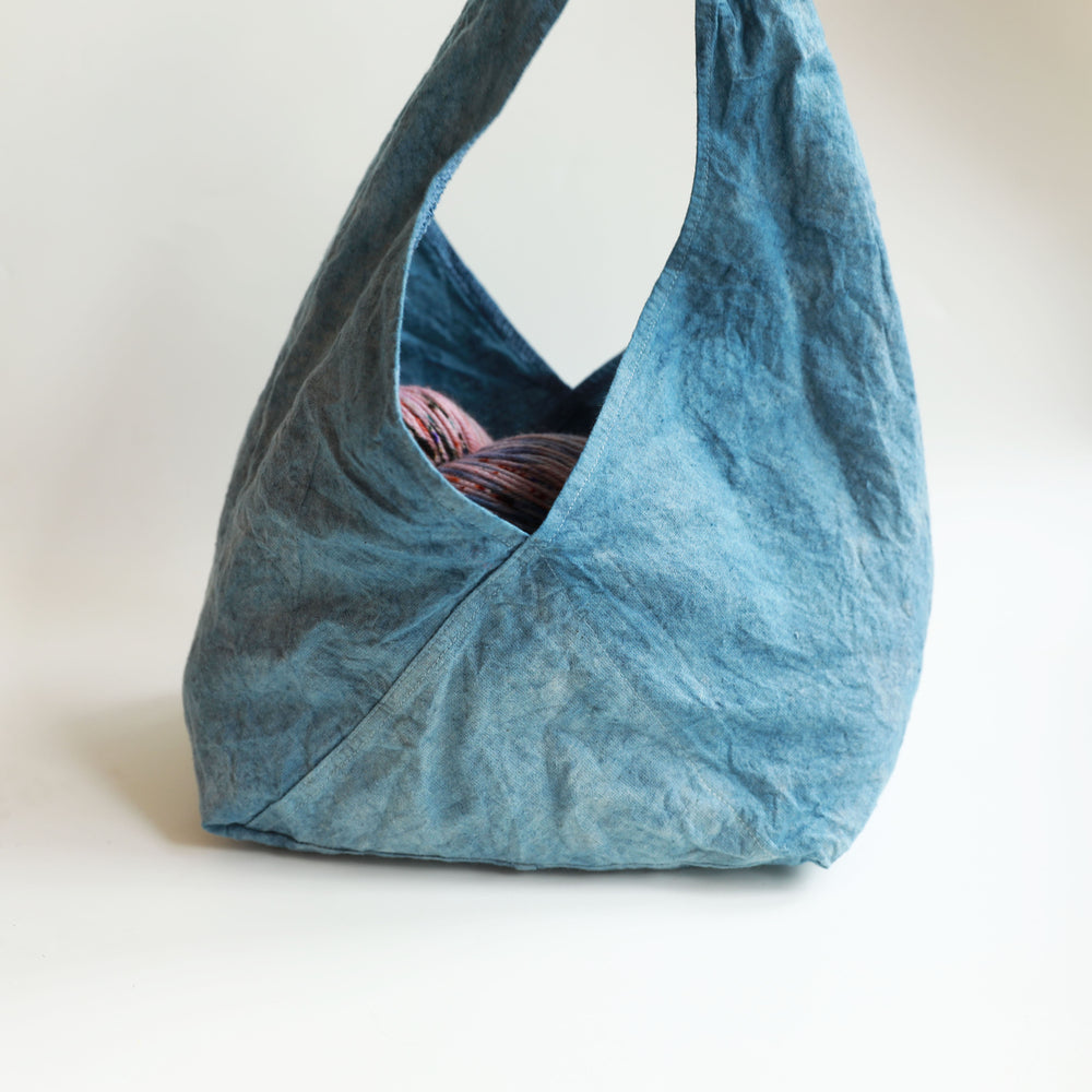 Qing Fibre Bento Project Bag - Dark Indigo