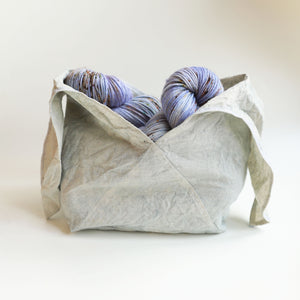 Qing Fibre Bento Project Bag - Light Indigo