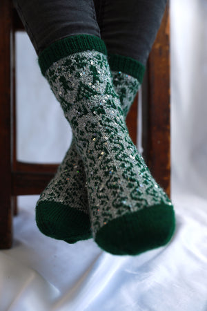 Rocking around the Christmas tree Sock pattern - Download version
