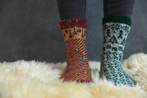 Baubles and Candy Canes Sock pattern - Download version