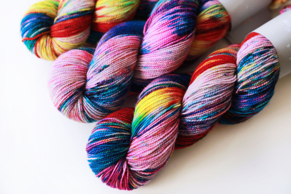 High Twist BFL- Mardi-Gras