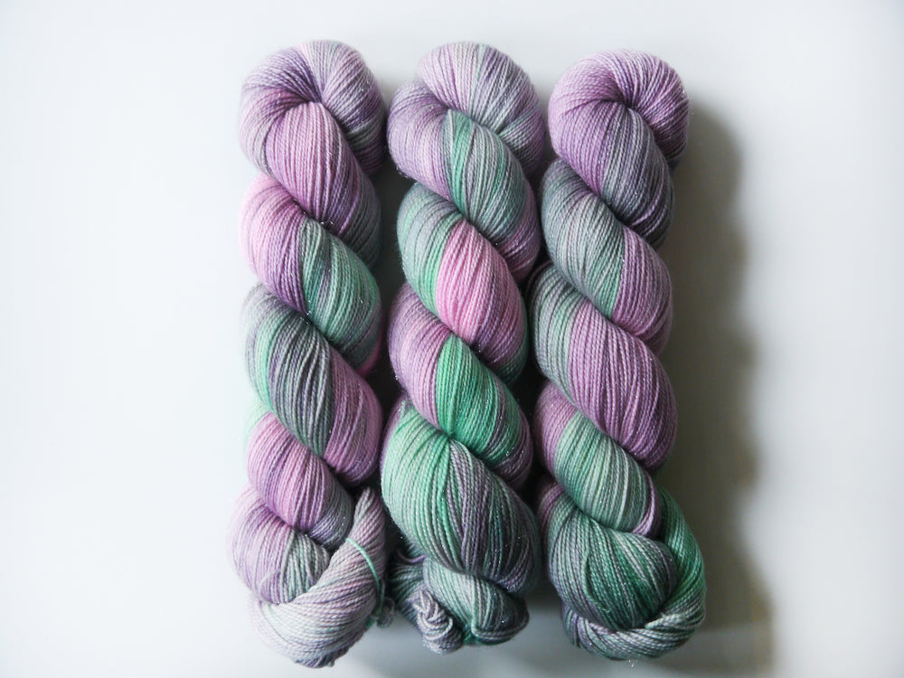 Qing Fibre Glitter Sock: Bloom
