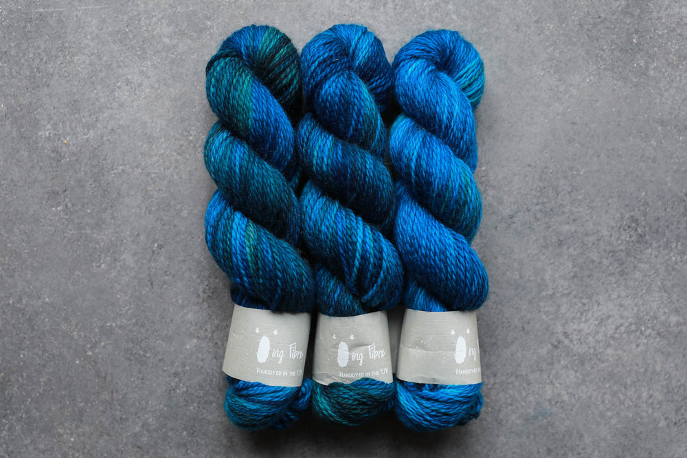 Qing Fibre LOFTY Aran: Deep Sea