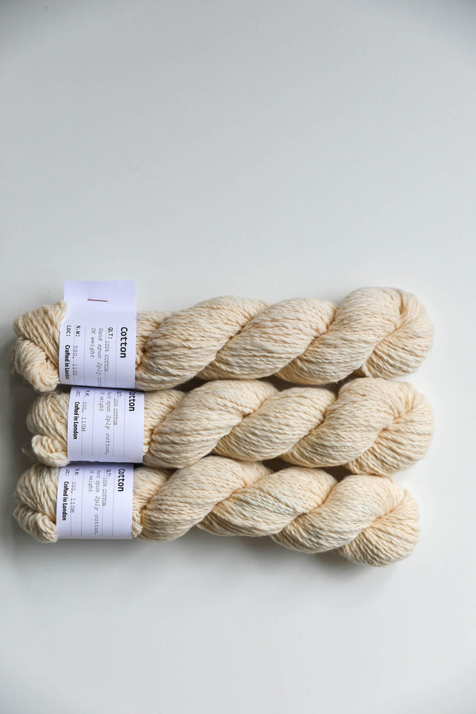 Qing Fibre Hand Spun Cotton - Annatto