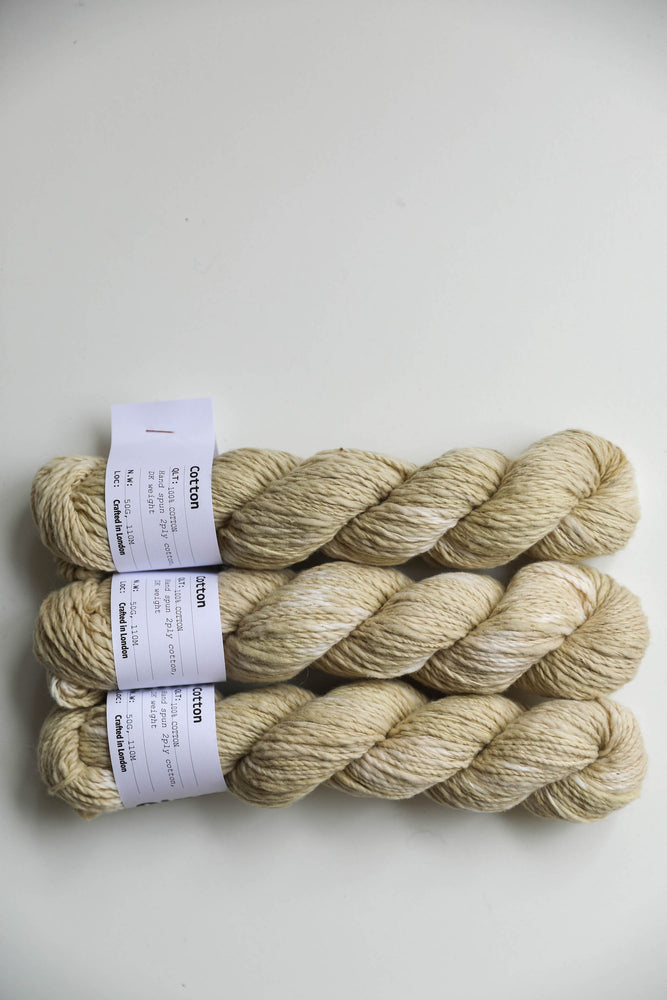 Qing Fibre Hand Spun Cotton -Spotty Henna