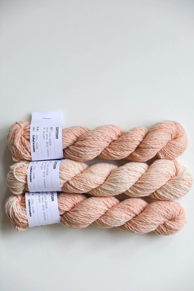 Qing Fibre Hand Spun Cotton - Madder Light