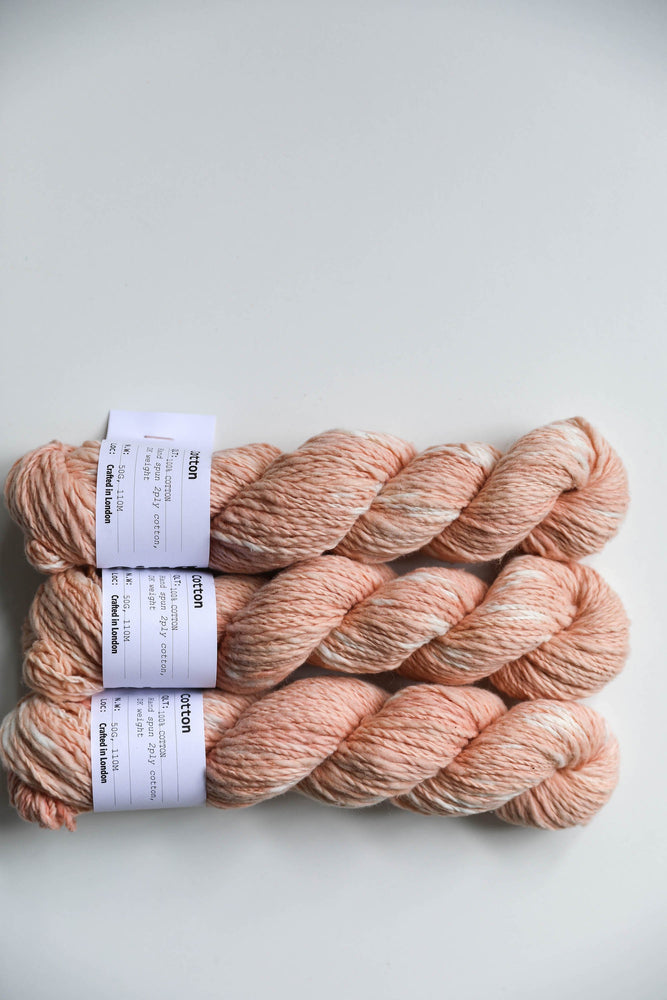 Qing Fibre Hand Spun Cotton - Spotty Madder