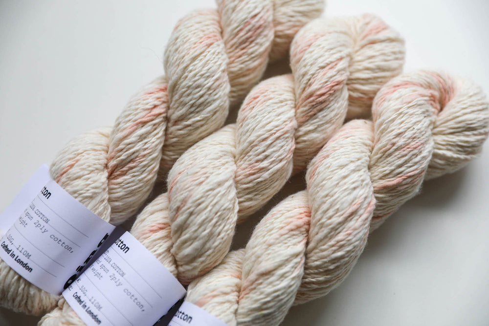 Qing Fibre Hand Spun Cotton - Speckly Madder