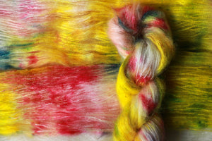 Qing Fibre Kid Mohair Silk - Papaya