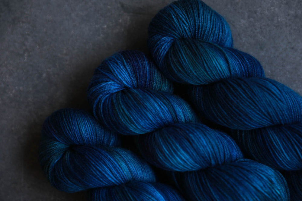 Qing Fibre Super Soft Sock: Deep Sea