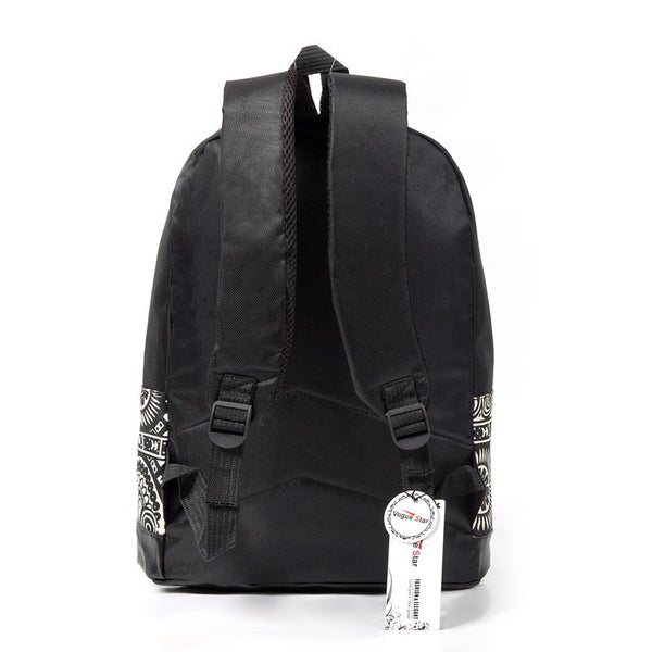 Unisex Chinese style canvas backpack