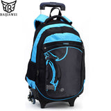 Triple Wheels  School Bag Detachable  Backpacks