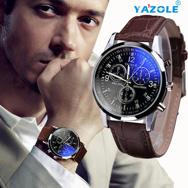 Men  Leather Quartz Analog Watches
