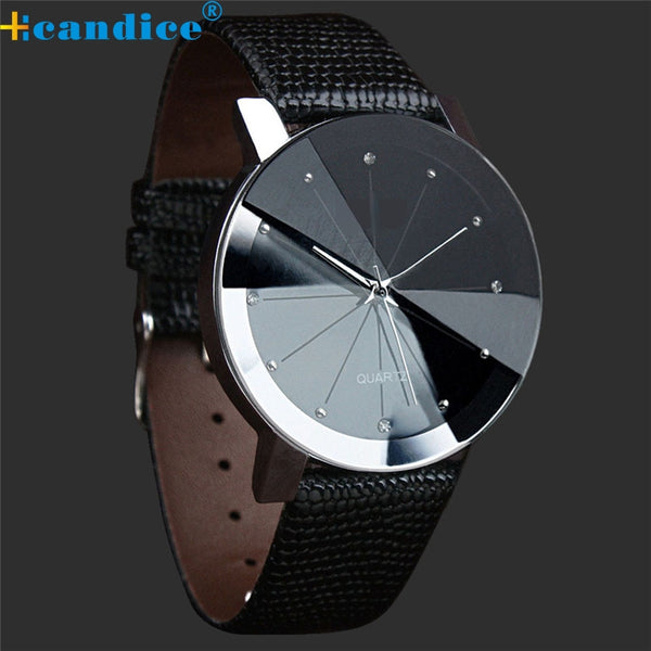Fabulous NEW Luxury Quartz Sport Military Stainless Steel Dial Leather Band Wrist Watch Men women watch black