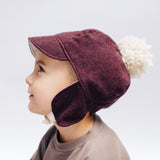 Mulberry Herringbone Winter Cap