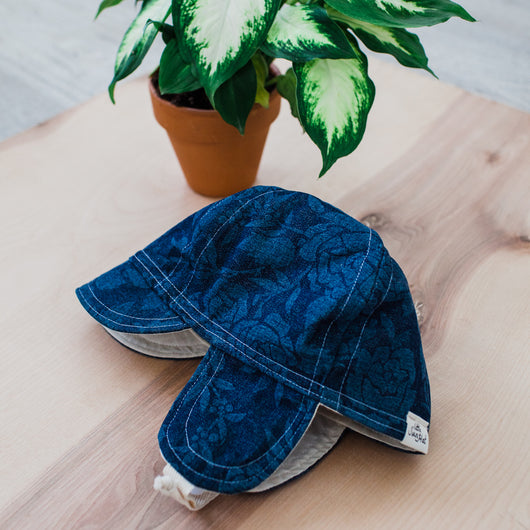 Denim Floral Cap