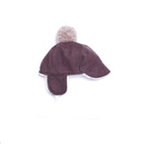 Chocolate Herringbone Winter Cap
