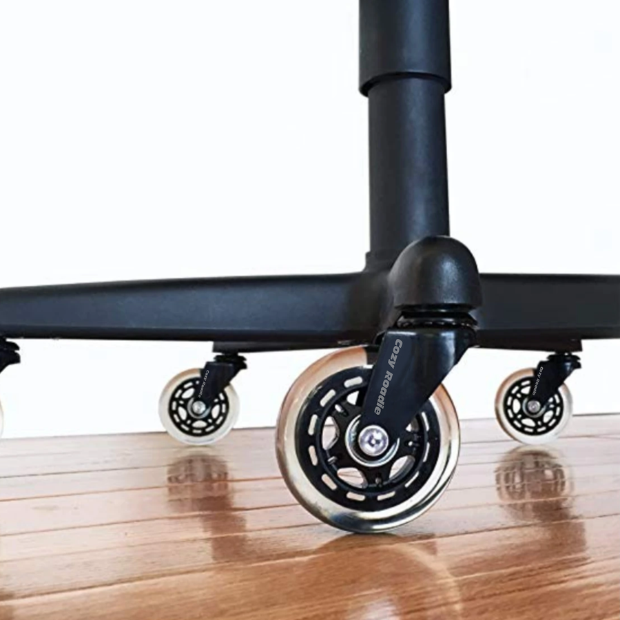 "Optional 3"" Smooth Glide Rollerblade Style Wheels"