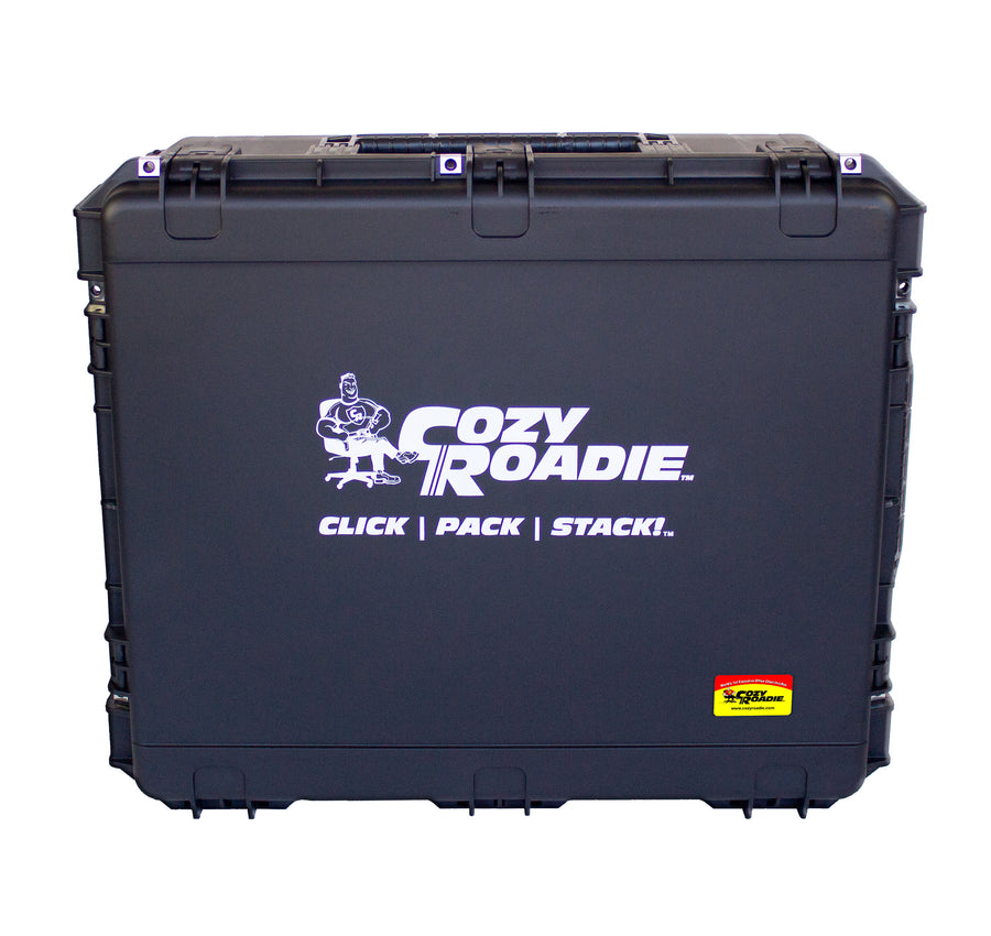 Cozy Roadie - Tour Chair, Portable Crew Chair lifetime warrantied travel case!