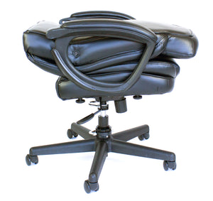 Cozy Roadie - Foldable Executive Office Chair, Portable Crew Chair - seatback folded