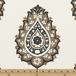 Drapery Panel Border - Damask Fabric