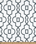 Drapery Panel Border - Bordeaux Fabric