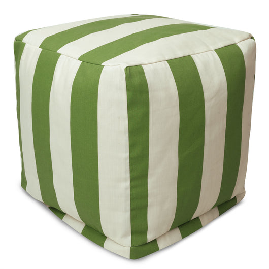 Striped Cube Ottoman Pouf Not Just Dorms