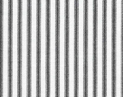 Drapery Panel Border - Classic Ticking Fabric