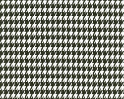 Drapery Panel Border - Houndstooth Fabric