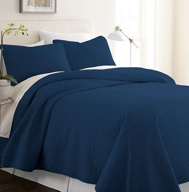 Herring Quilted Coverlet Set - Twin/Twin XL