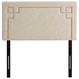 Square Designed Nailhead Headboard