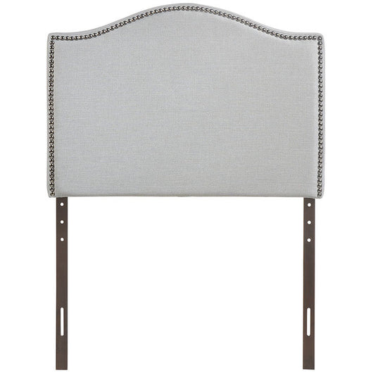Nailhead Upholstered Headboard Twin Arch