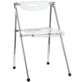 Clear Telescope Desk Chair
