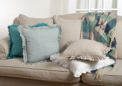 Fringe Linen Pillow 20