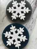 grey snowflake coaster