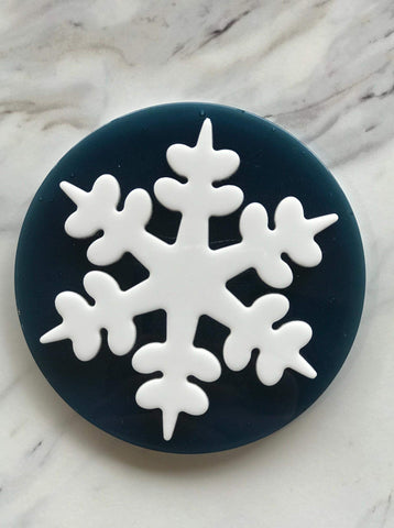 blue snowflake coaster