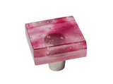 MP1-BP - Millennial Pink Blush Pink Glass Square Knob