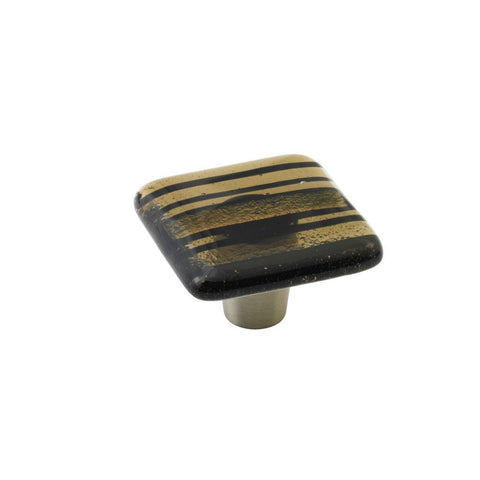 Stripe Bronze Stripe Square Knob