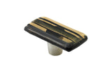 Stripe Bronze Stripe Rectangle Knob