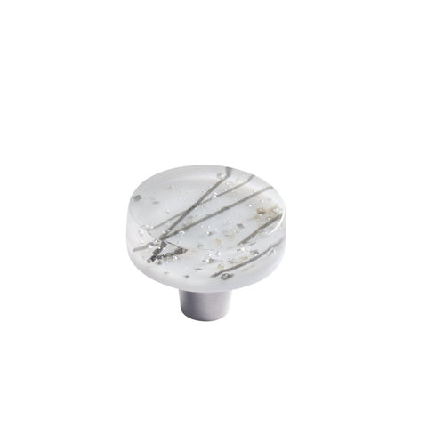 JBL3-WS - Jubilee White Slate Glass Circle Knob