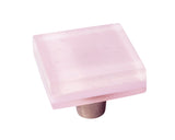 MP-RQ - Millennial Pink Rose Quartz Glass Square Knob