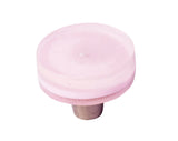 MP3-RQ - Millennial Pink Rose Quartz Glass Circle Knob