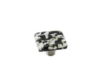Pebbles Black Speckle Square Knob