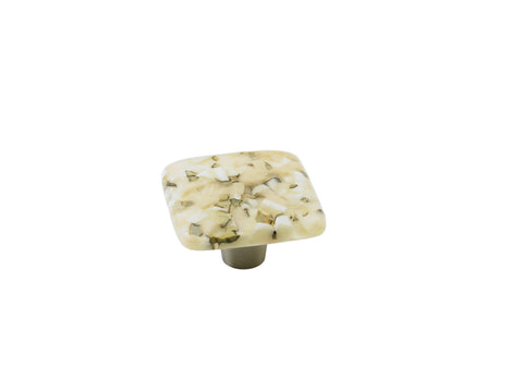 Pebbles Light Oatmeal Sqaure Knob
