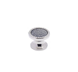 "PN3-SG - Classico Polished Nickel Slate 1.25"" Round Knob"