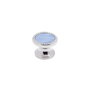 "PN3-G - Classico Polished Nickel Glacier 1.25"" Round Knob"
