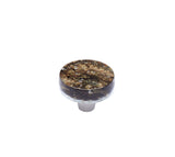 Pearl Black Gold Circle Knob