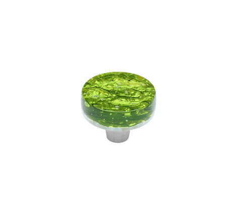 Pearl Emerald Circle Knob
