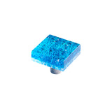 "PRL1-BB - Pearl Bright Blue 1.5"" Square Knob"